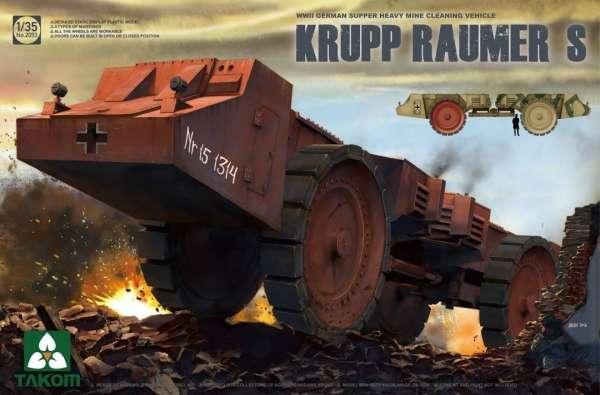 Niemiecki pojazd do rozminowywania terenu Krupp Raumer S, plastikowy model do sklejania Takom 2053 w skali 1:35