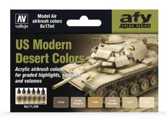 Zestaw 6 modelarskich farb akrylowych - US Modern Desert Colors - Vallejo 71209