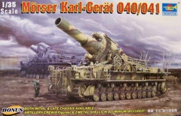 Niemieckie ciężkie samobieżne działo Morser Karl-Gerat, plastikowy model do sklejania Trumpeter 00215 w skali 1:35