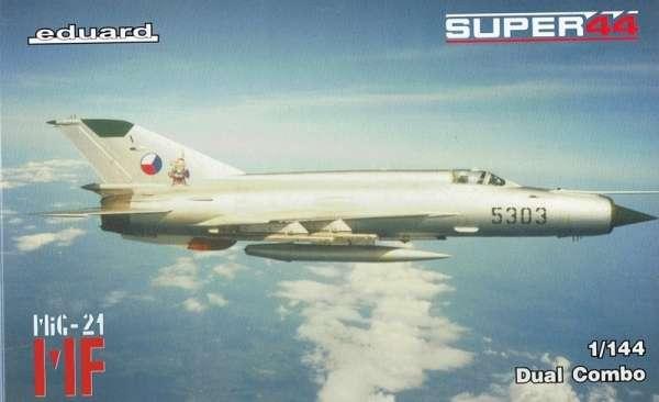 Radziecki myśliwiec MiG-21 MF w służbie Czechosłowacji, plastikowy model do sklejania Eduard 4434 w skali 1:144-image_Eduard_4434_1