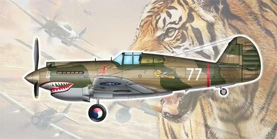Amerykański myśliwiec Curtiss P-40 (H-81A-2(AFG)) , plastikowy model do sklejania Trumpeter 05807 w skali 1:48
