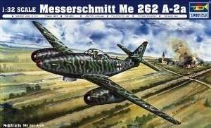 Niemiecki samolot Messerschmitt Me 262 A-2a, plastikowy model do sklejania Trumpeter 02236 w skali 1:32-image_Trumpeter_02236_1