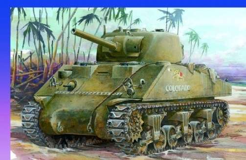 Model czołgu do sklejania Sherman M4A2 w skali 1:35 - Dragon nr 6062