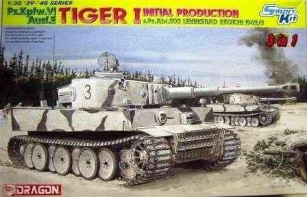 Niemiecki czołg ciężki Pz.Kpfw.VI Tiger I , plastikowy model do sklejania Dragon 6600 w skali 1:35