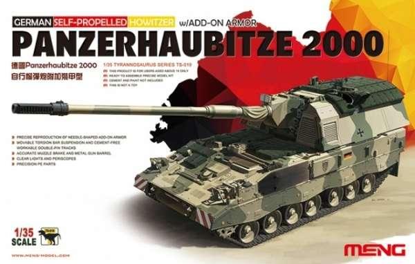 Niemiecka samobieżna haubicoarmata PzH 2000 kalibru 155 mm, plastikowy model do sklejania Meng TS-019 w skali 1:35
