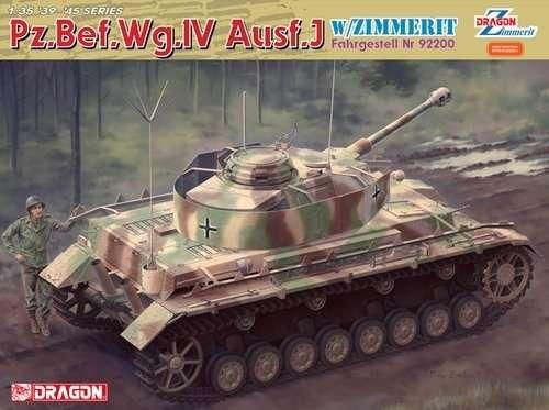 Niemiecki czołg Pz.Bef.Wg.IV w wersji J z zimmeritem, plastikowy model do sklejania Dragon 6823 w skali 1:35.