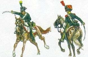 Zestaw figurek francuskiej lekkiej kawalerii do sklejania - Italeri 6080