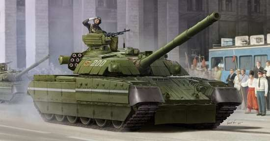 Ukraiński współczesny czołg T-84 MBT, plastikowy model do sklejania Trumpeter 09511 w skali 1:35