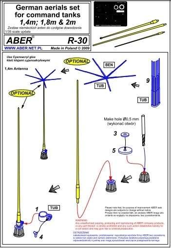 Aber R-30 Zestaw niemieckich anten do czołgów dowodzenia