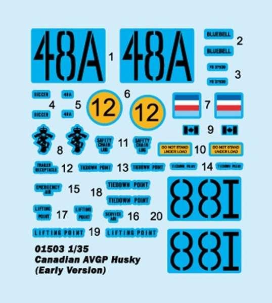 Trumpeter 01503 Canadian AVGP Husky Early Version