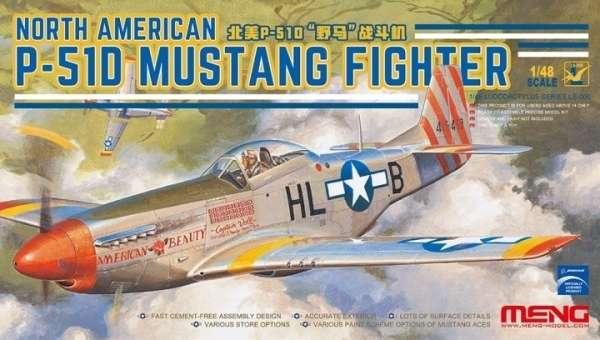 Amerykański myśliwiec P-51D Mustang, plastikowy model do sklejania Meng LS-006 w skali 1:48