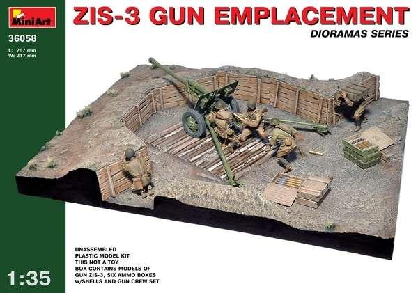 Stanowisko ogniowe działa ZiS-3 wraz z załoga w sklai 1:35.