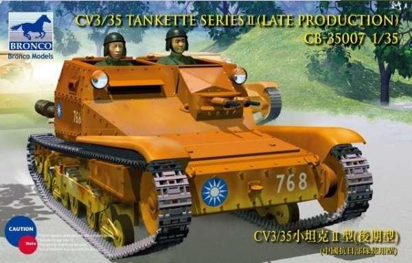 Włoska tankietka CV3/35 w skali 1:35, model do sklejania i malowania - Bronco CB35007.