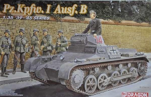 Niemiecki lekki czołg Pz.Kpfw. I wersja B, plastikowy model do sklejania Dragon 6186 w skali 1:35.