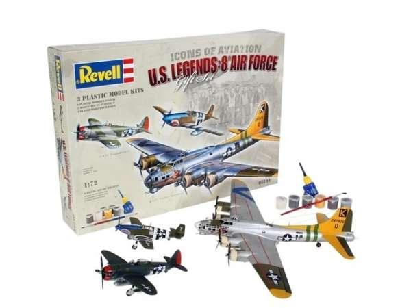 Zestaw modelarski - legendarne amerykańskie samoloty Revell 05794 - plastikowe modele do sklejania w skali 1:72