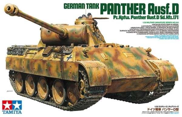 Niemiecki czołg Pz.Kpfw. Panther typ D, plastikowy model do sklejania Tamiya 35345 w skali 1:35.