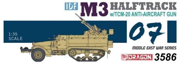 Transporter opancerzony M3 z działkiem przeciwlotniczym TCM-20, plastikowy model do sklejania Dragon 3586 w skali 1:35