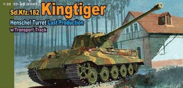 Niemiecki czołg ciężki King Tiger z okresu IIWŚ, plastikowy model do sklejania Dragon 6209 w skali 1:35