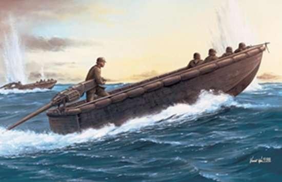 Niemiecka łódź do transportu żołnierzy, plastikowy model do sklejania Dragon 6108 w skali 1:35