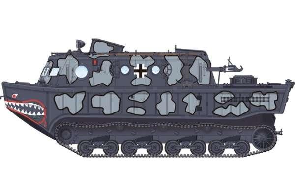 Niemiecki ciągnik - amfibia Landwasserschlepper (LWS) , plastikowy model do sklejania Hobby Boss 82919 w skali 1:72