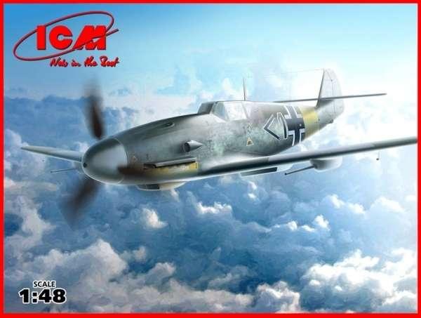 Niemiecki myśliwiec Messerschmitt Bf 109F-4/R6, plastikowy model do sklejania ICM 48107 w skali 1:48