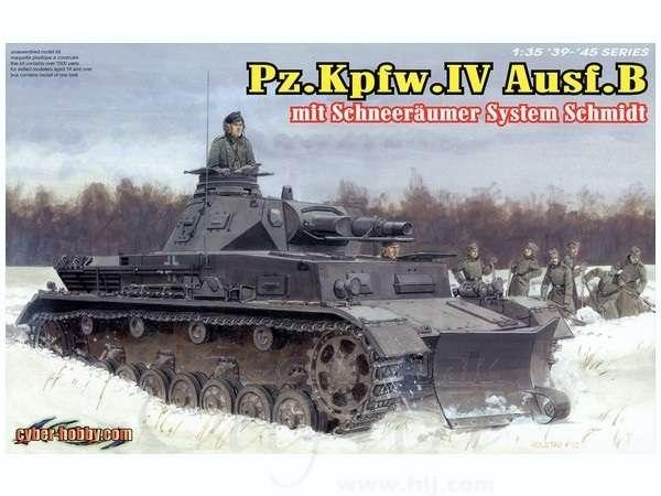 Niemiecki średni czołg Pz.Kpfw. IV z pługiem, plastikowy model do sklejania Dragon 6764 w skali 1:35.