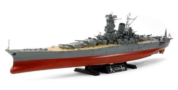 Japoński pancernik Yamato, plastikowy model do sklejania Tamiya 78030 w skali 1:350.