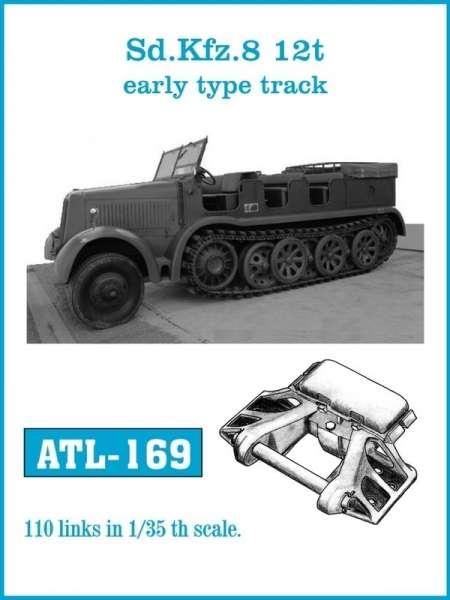 Metalowe gąsienice do modelu transportera półgąsienicowego Sd.Kfz. 8 12t wczesny typ w skali 1:35, Friulmodel ATL-169
