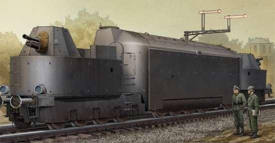 Niemiecki ciężki pancerny wagon motorowy, plastikowy model do sklejania Trumpeter 00223 w skali 1:35-image_Trumpeter_00223_1