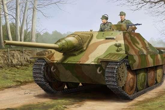Niemieckie samobieżne działo pancerne Jagdpanzer 38(t) Hetzer Starr, plastikowy model do sklejania Trumpeter 05524 w skali 1:35