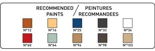 Kolory farb potrzebne do pomalowania modelu statku Heller 80899 Soleil Royal