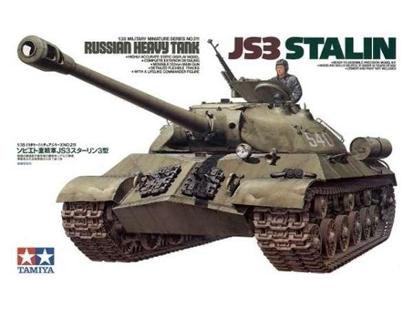 Plastikowy model radzieckiego czołgu JS-3 do sklejania w skali 1:35, model Tamiya 35211.