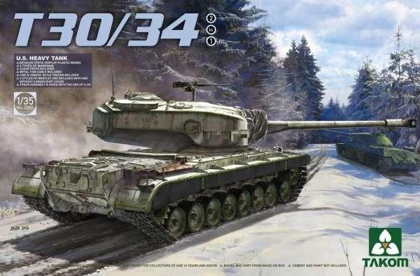 Amerykański ciężki czołg T30/34, plastikowy model do sklejania Takom 2065 w skali 1:35