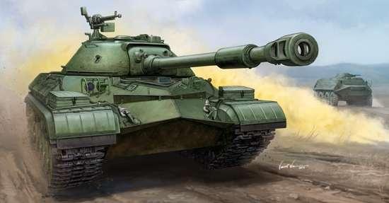 Radziecki ciężki czołg, ostatni z serii sowieckich czołgów IS-8, po śmierci Stalina jego nazwę zmieniono na T-10, plastikowy model do sklejania Trumpeter 05547 w skali 1:35