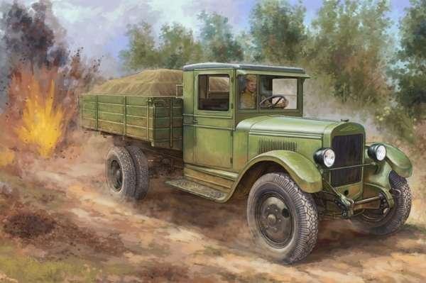 Radziecki 3-tonowy wielozadaniowy samochód ciężarowy ZiS-5, plastikowy model do sklejania Hobby Boss 83885 w skali 1:35.-image_Hobby Boss_83885_1