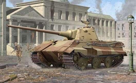 Niemiecki prototypowy czołg podstawowy E-50 (50-75 ton) / Standpanzer, plastikowy model do sklejania Trumpeter 01536 w skali 1:35.-image_Trumpeter_01536_1