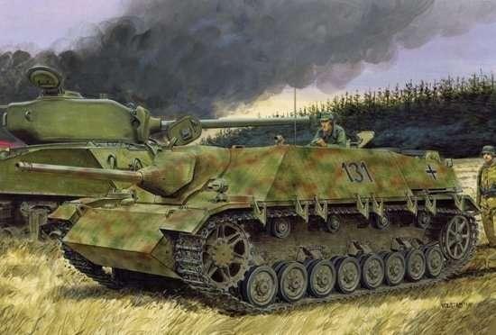 Niemieckie działo pancerne Jagdpanzer IV L/48 , plastikowy model do sklejania Dragon 6369 w skali 1:35