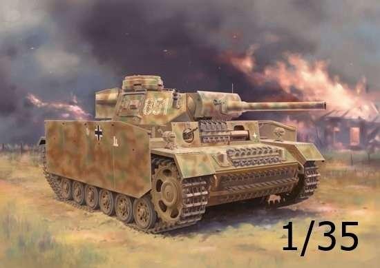 Czołg Panzerkampfwagen III wersja M, plastikowy model do sklejania Dragon 6776 w skali 1:35.-image_Dragon_6776_1