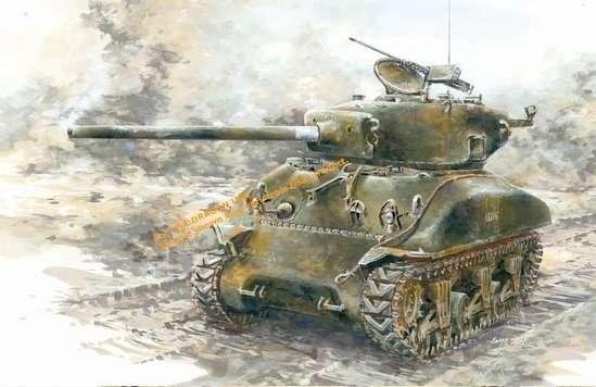 Amerykański czołg średni M4A1(76) Sherman , plastikowy model do sklejania Dragon 6083 w skali 1:35