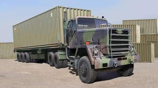 Amerykańska ciężarówka wojskowa M915 , plastikowy model do sklejania Trumpeter 01015 w skali 1:35