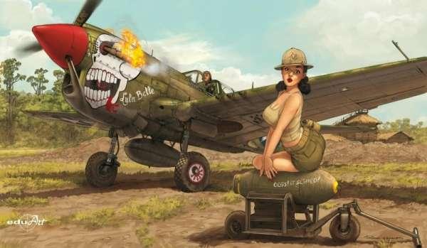 Amerykański myśliwiec P-40N Warhawk, plastikowy model do sklejania Eduard 11104 w skali 1:32 - image_1-image_Eduard_11104_1