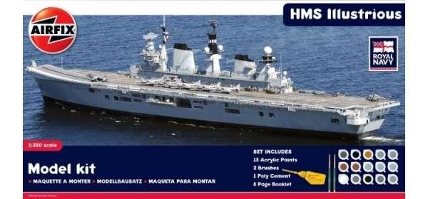 Lotniskowiec HMS Illustrious w skali 1:350, zestaw modelarski z klejem i farbami airfix_a50059_image_1