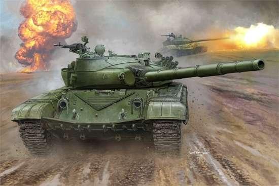 Rosyjski czołg T-72B MBT , plastikowy model do sklejania Trumpeter 00924 w skali 1:16