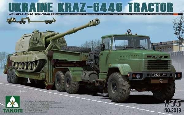 Ukraiński ciężki ciągnik siodłowy KrAZ-6446, plastikowy model do sklejania Takom 2019 w skali 1:35