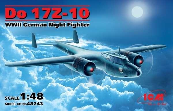 Niemiecki nocny myśliwiec Dornier Do 17Z-10, plastikowy model do sklejania ICM 48243 w skali 1:48.
