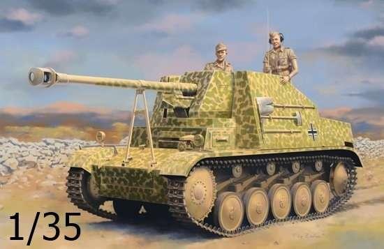 Niemiecki niszczyciel czołgów Sd.Kfz.131 Marder II, plastikowy model do sklejania Dragon 6769 w skali 1/35.