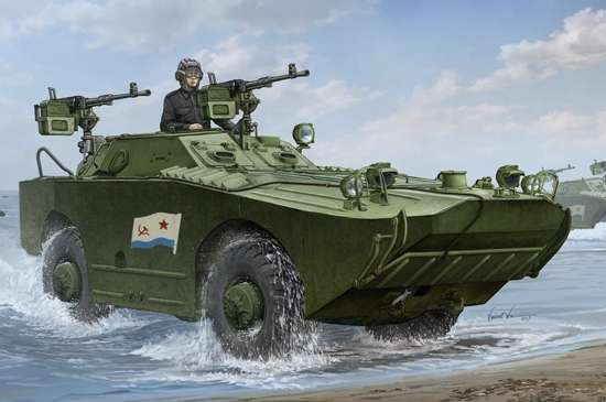 Radziecki opancerzony samochód rozpoznawczy BRDM-1 , plastikowy model do sklejania Trumpeter 05596 w skali 1:35