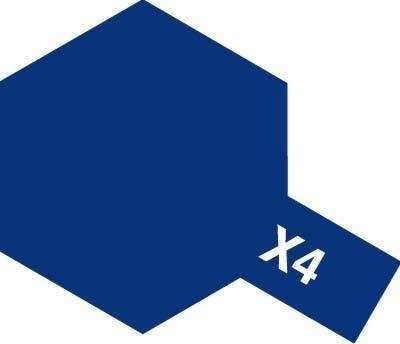 X-4 Blue emalia 10ml Tamiya 80004