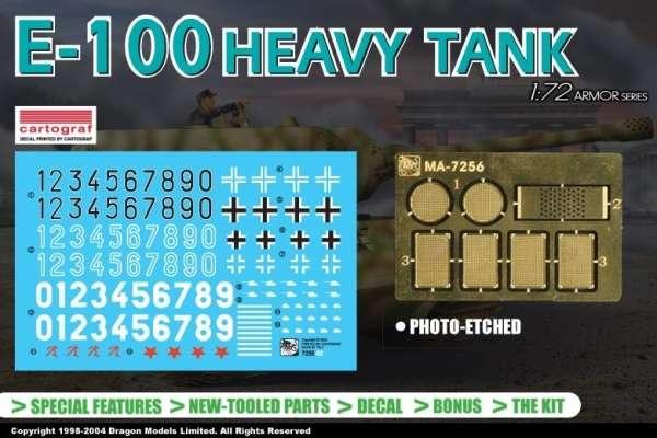 Dodatki do modelu czołgu E100 w skali 1:72 - Dragon 7256