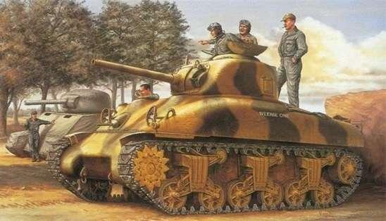 Medium tank M4A1 Sherman - model Dragon 6048